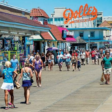 The original Rehoboth Beach boardwalk was built in 1873, running the full length of the oceanfront and is still a very popular attraction.