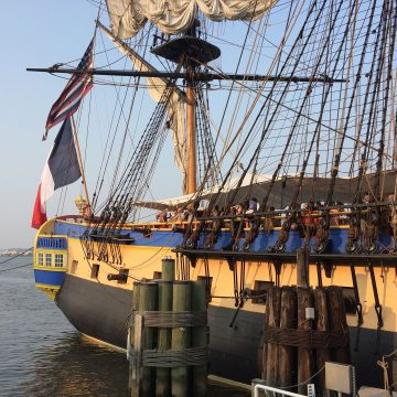 Historic New Castle is home to a newly built Public Dock at Battery Park, a destination for tall ships available for public cruises down the Christina River.